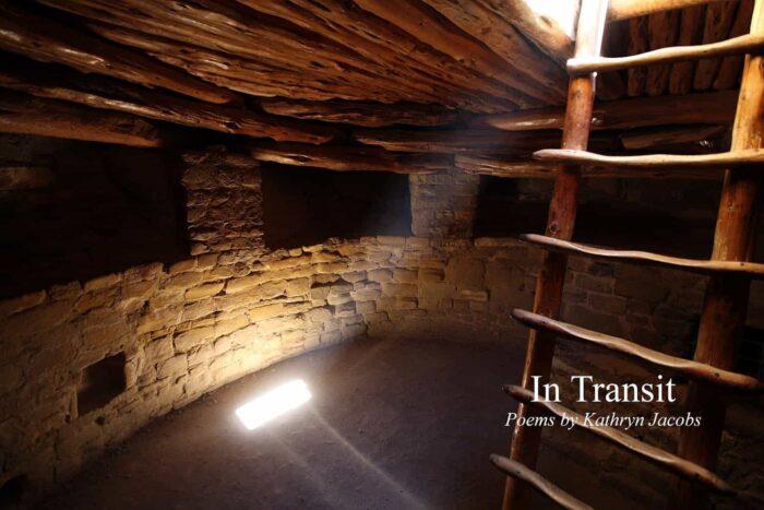 steps and sunshine light into a round dark den