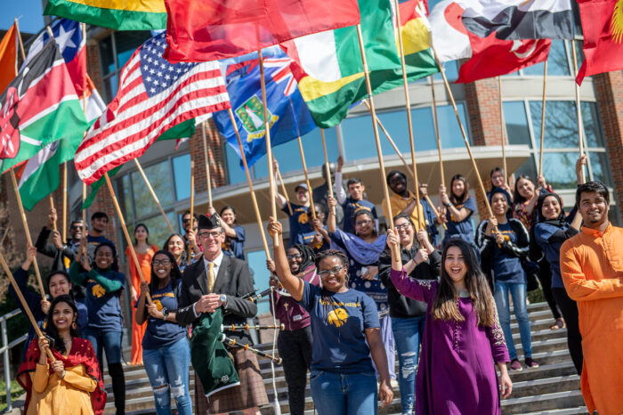 Global Cultural Festival - People holding international flags.