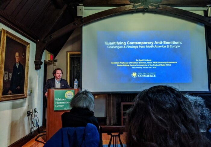Dr. Ayal Feinberg delivered a lecture at Yale last month