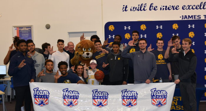 Emerson DePaz was signed to the Lion men's basketball team through a partnership with Team IMPACT