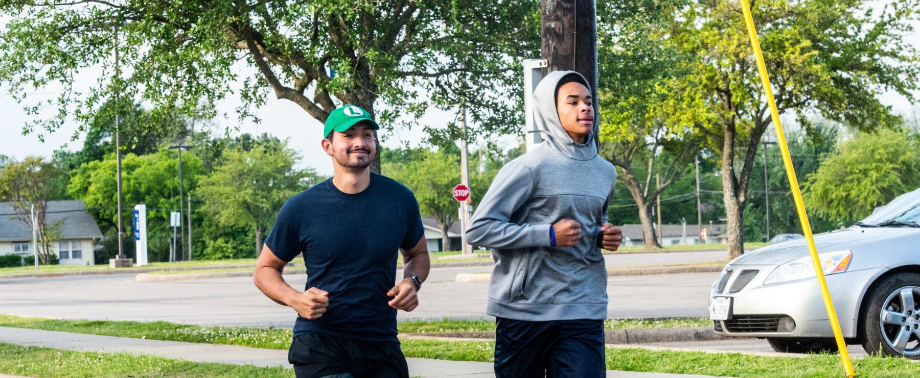 Two men running at Dan Jones 5k and fun run