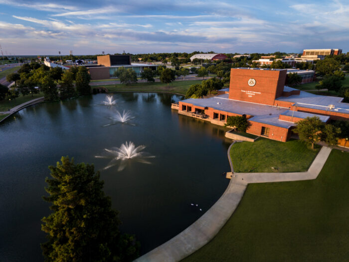 A&M-Commerce campus overhead view
