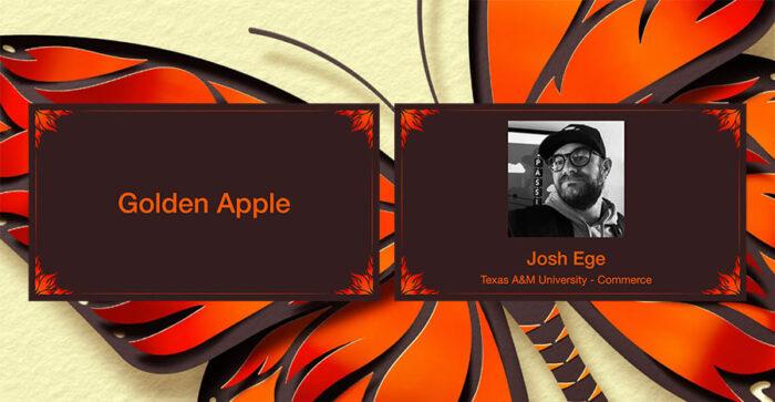 Joshua Ege Golden Apple Award