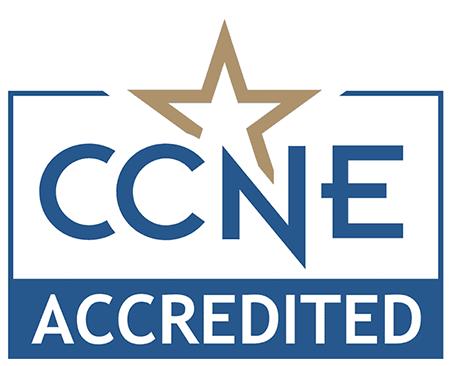 Commission on Collegiate Nursing Education Accredited logo.