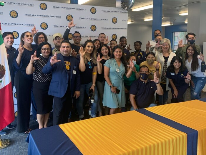 A&M-Commerce employees pose with Mexican consulate officials