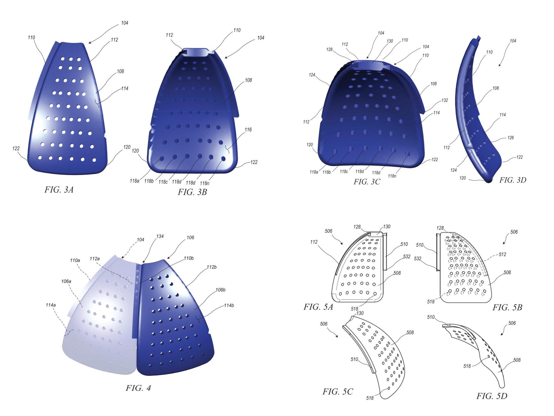 Cranial prosthesis diagrams