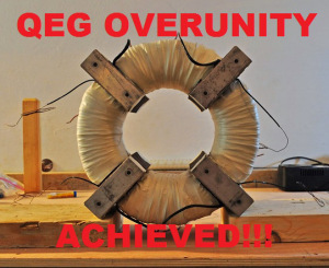 Major Breakthrough in Free Energy: Overunity Demonstrated in the QEG
