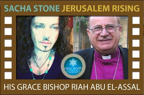 Sacha Stone speaks to Bishop of Jerusalem (Riah Abu El-Assal)