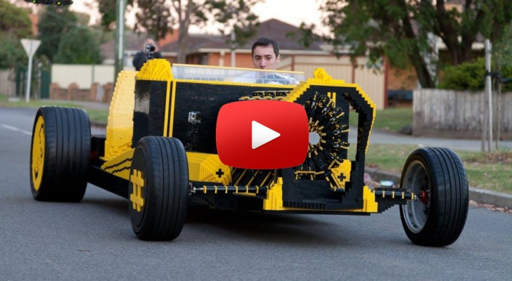 The 500,000 + Piece LEGO Car That Runs on Compressed Air