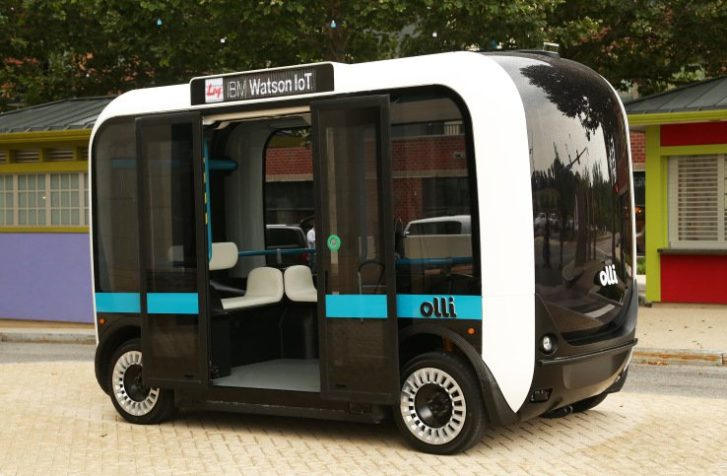This 3D Printed, Self-Driving Minibus Is Hitting The Streets In The US (Video)