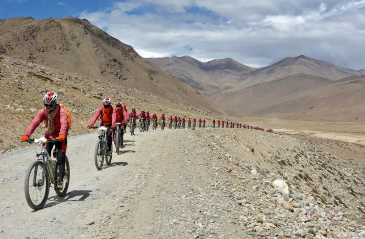 Hundreds Of Kung Fu Buddhist Nuns Are Biking The Himalayas To Oppose Human Trafficking