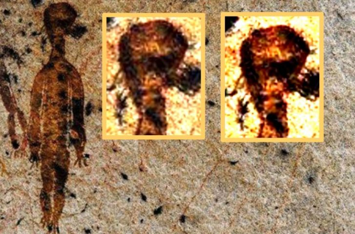 10,000 Year Old Rock Paintings Depicting Possible Extraterrestrial Visitation & Ufos Discovered In India