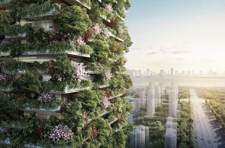 Asia's First Vertical Forest Is Being Built In China & Will Produce 132 Pounds Of Oxygen Every Day
