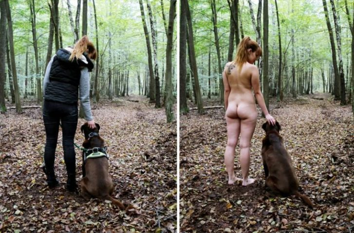 Photographer Shoots Real People Doing Everyday Tasks Without Clothes & Here's Why
