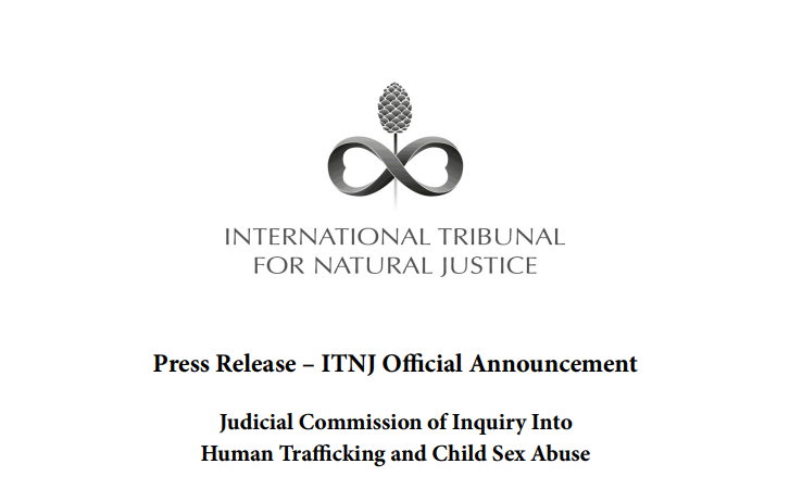ITNJ judicial commission inquiry into human trafficking & child sex abuse press releases 2017