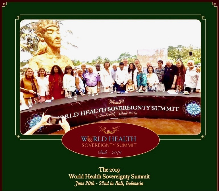 world health sovereignty summit 2019 newearth festival, bali, indonesia