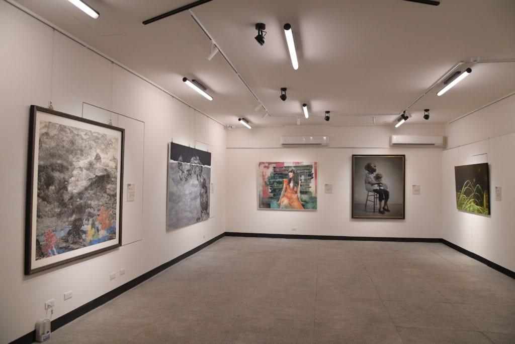 「2020中山青年藝術獎」油畫類作品展出現場。