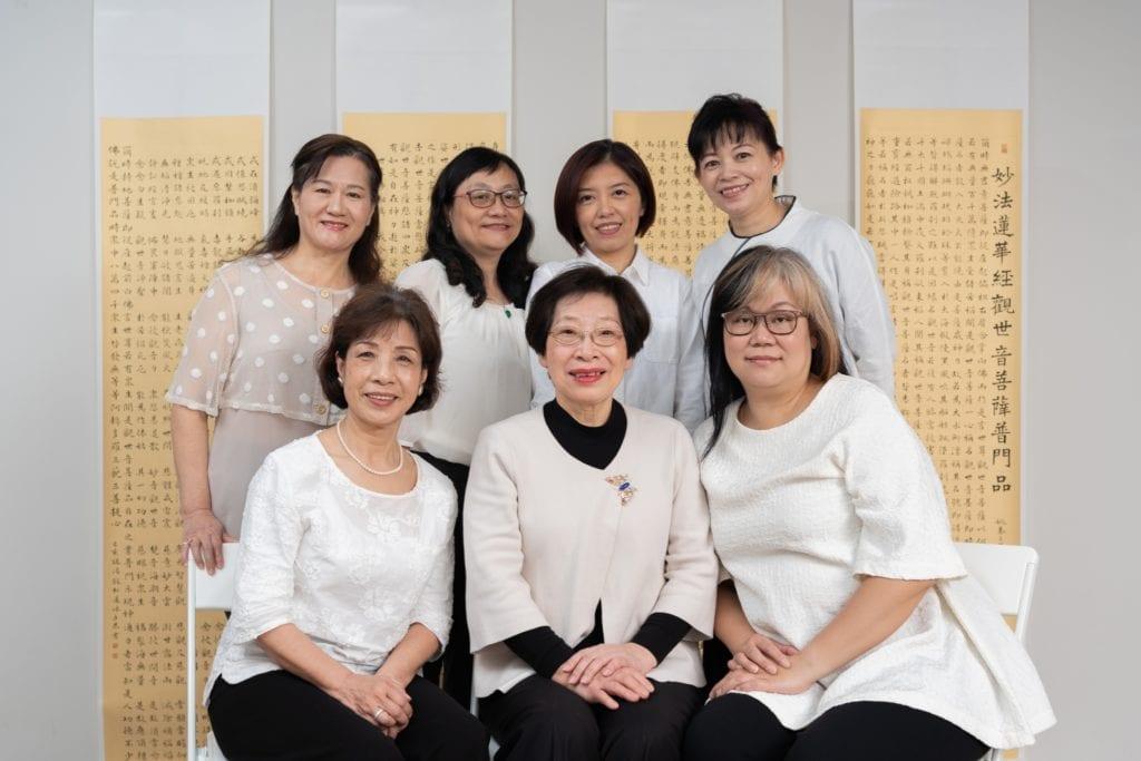 參與佛畫書法聯展的7位書法家,展現書藝創作的才情之美。