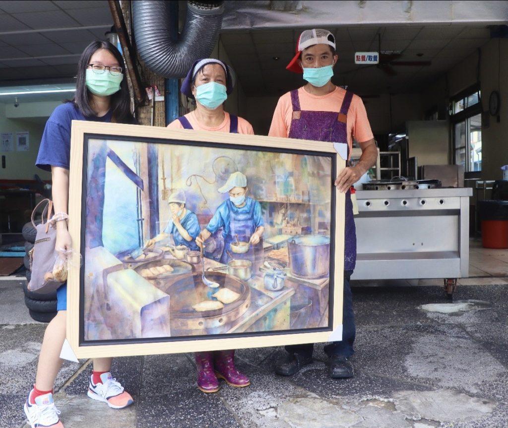 黃媽媽早餐店收藏了前中畢業生、剛成為台藝大美術系新鮮人的陳婕宜水彩創作--「晨饗」