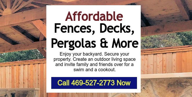 North Texas Fence and Deck Plano TX, North Dallas, Royce City TX