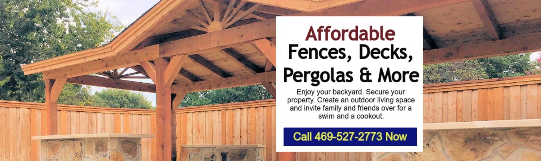 North Texas Fence and Deck Plano TX, North Dallas, Royce City TX
