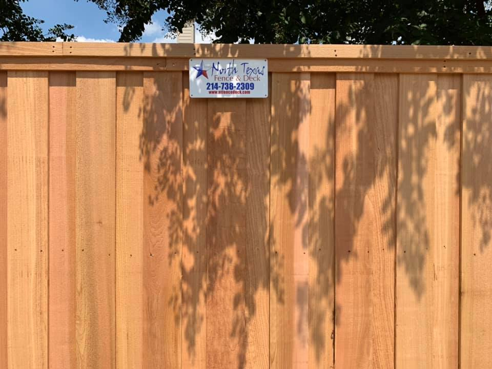 Privacy Fences Installed in Plano, Richardson, Frisco, McKinney, Garland Texas. Western Red Cedar Privacy Fence.