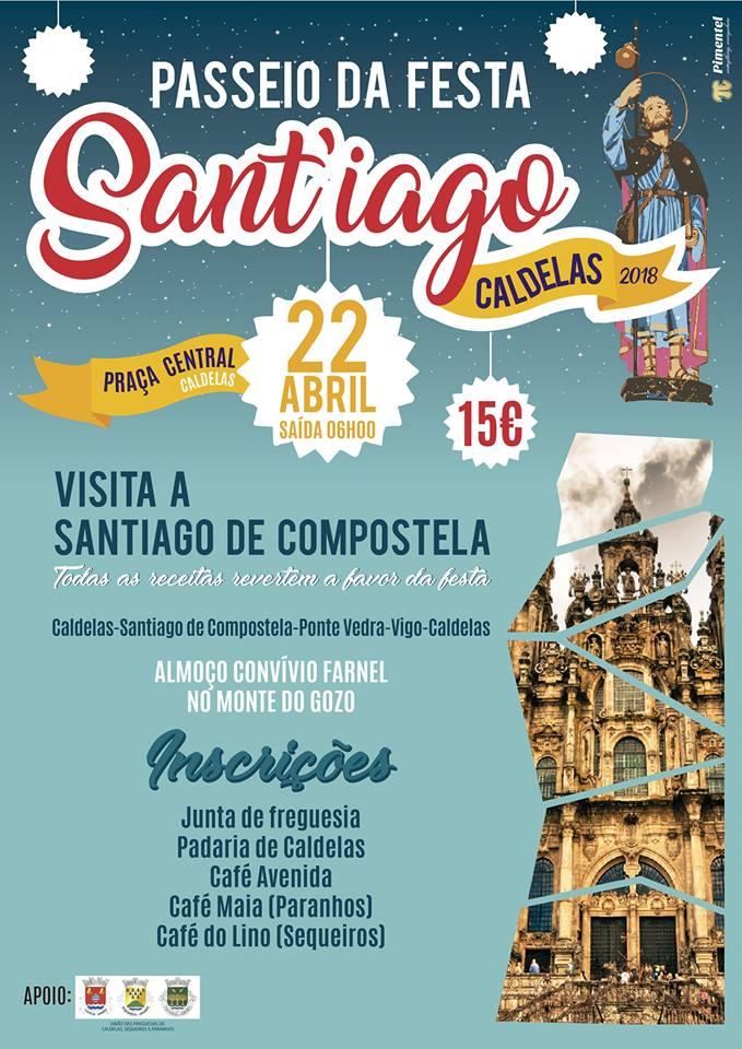 CaldelasPasseio a Santiago de Compostela para angariar fundos para a festa de Santiago