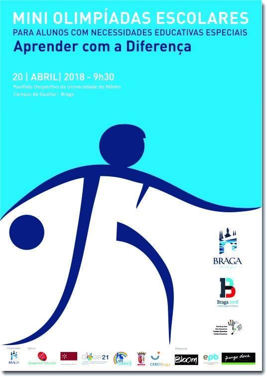 BRAGAUMinho acolhe esta sexta-feira mini-olimpíadas para alunos com Necessidade Educativas Especiais