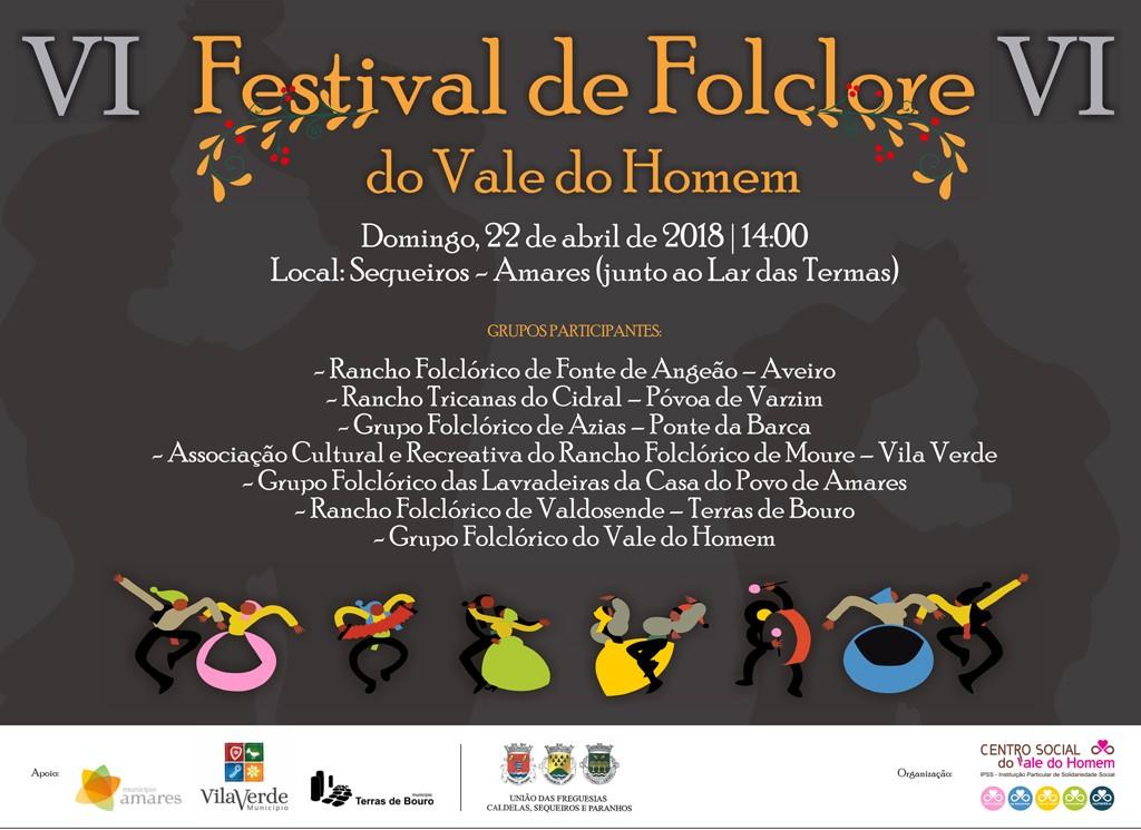 EM SEQUEIROSVI Festival de Folclore do Vale do Homem é este domingo