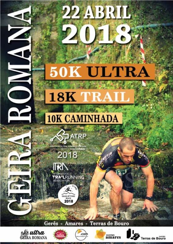 "TRAIL RUNNING""XI Ultra Trail da Geira Romana"" corre-se dia 22 de Abril"