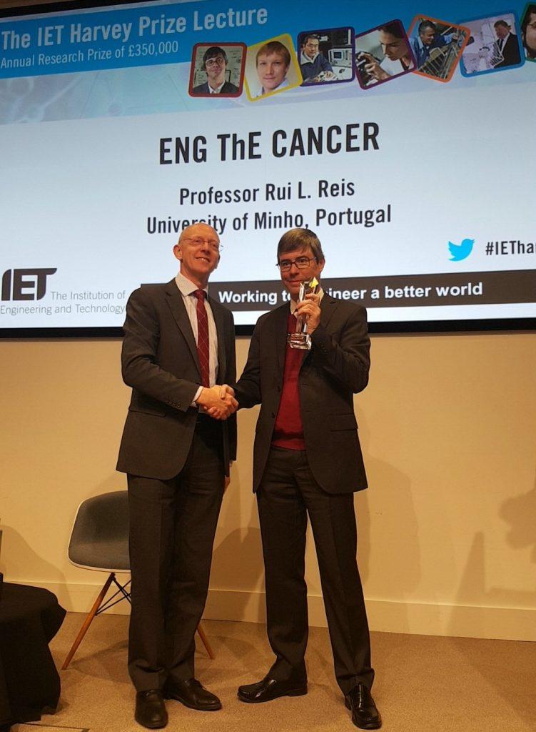 UMINHORui L. Reis recebeu em Londres um dos maiores prémios internacionais de Engenharia