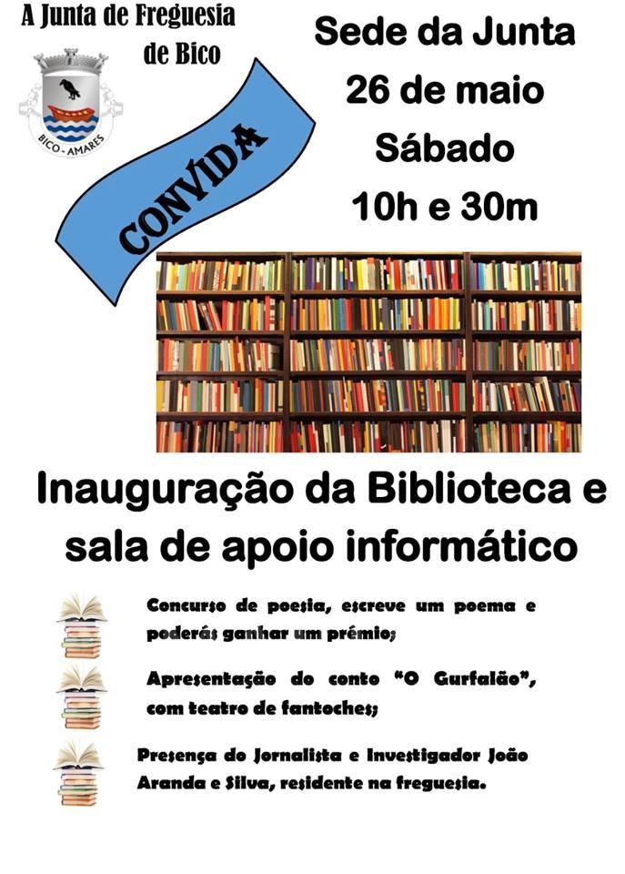 INAUGURAÇÃO 26 DE MAIOS. Vicente do Bico vai ter biblioteca e sala de apoio informático