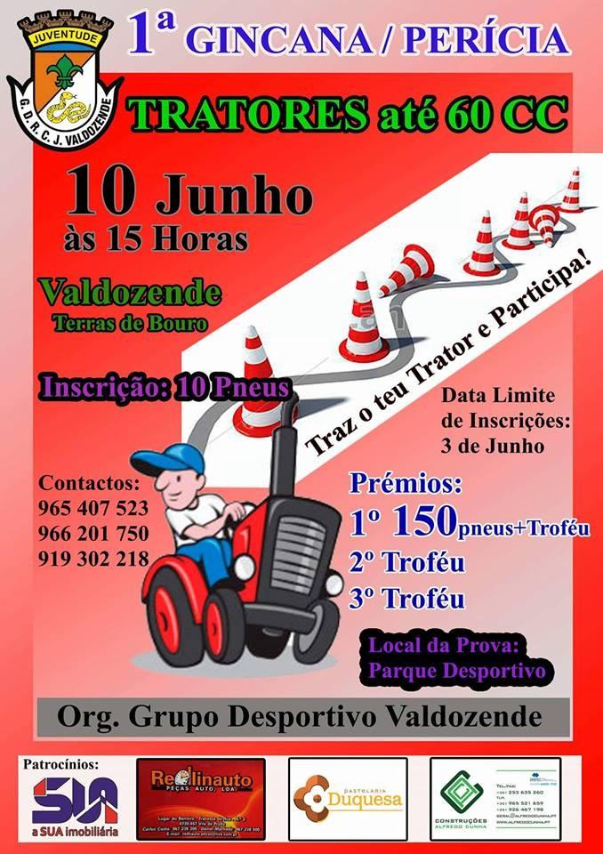 TRACTORESPrimeira Gincana/Perícia em Valdozende no dia 10 de Junho