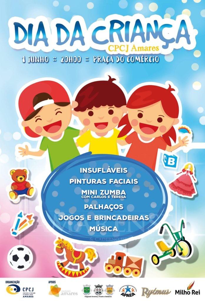 PRAÇA DO COMÉRCIO, FERREIROSCPCJ de Amares comemora Dia Mundial da Criança a 1 de Junho