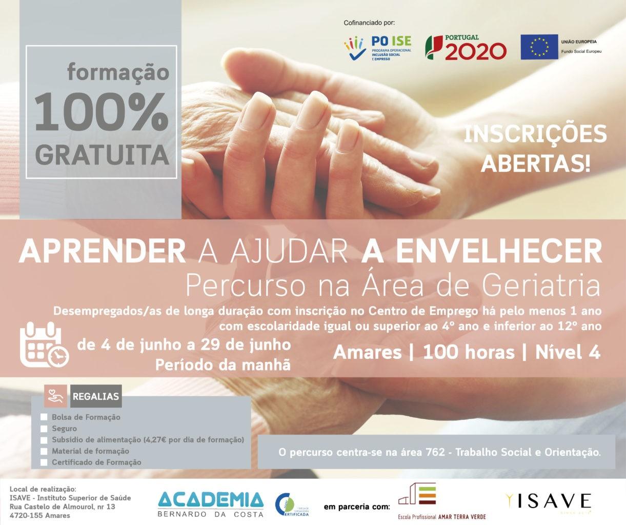 """ENVELHECIMENTO ACTIVOAcademia Bernardo da Costa e EPATV promovem formação """"Aprender a ajudar a envelhecer"""""""