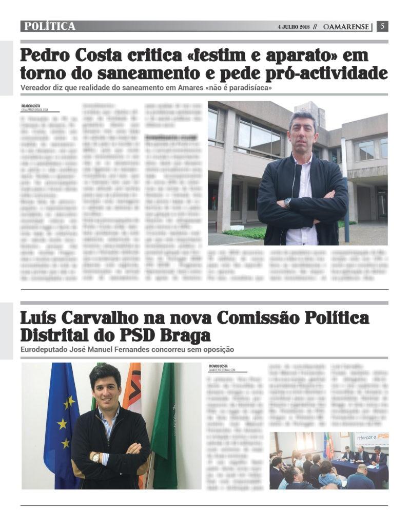 JÁ NAS BANCAS - Pedro Costa afirma que realidade do saneamento em Amares «não é paradisíaca»