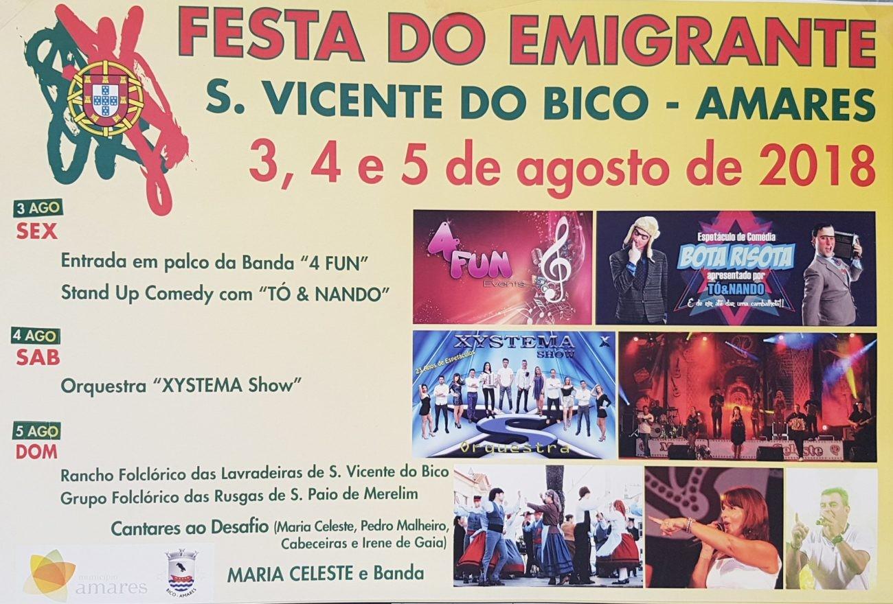 EM S. VICENTE DO BICO - Está quase a começar a Festa do Emigrante 2018 em S. Vicente do Bico
