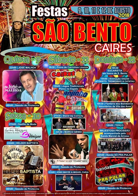 CAIRES - José Malhoa e Hélder Baptista nas Festas de São Bento