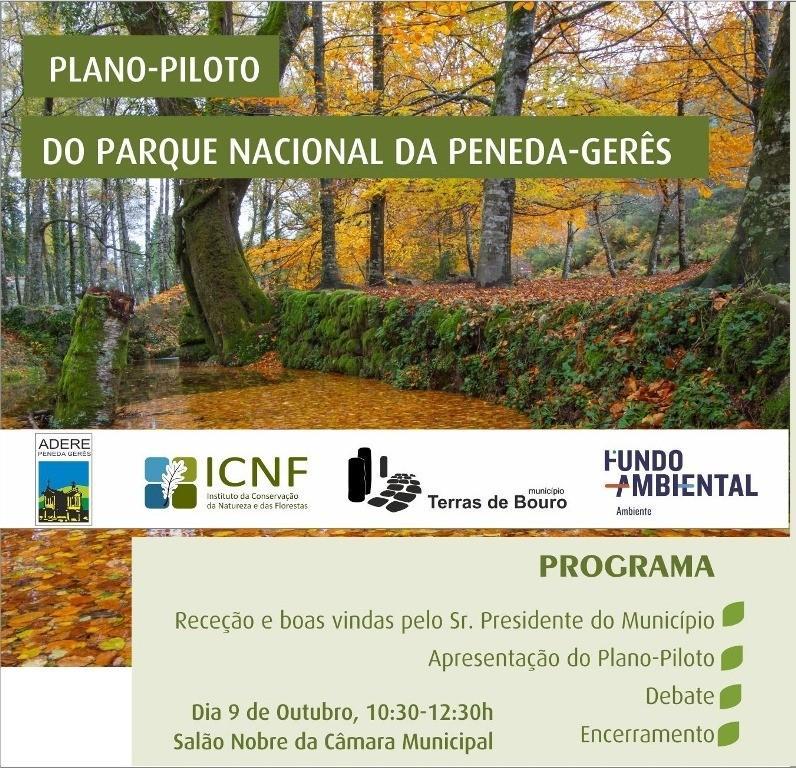 TERRAS DE BOURO - Sessão pública de apresentação do Plano Piloto do PNPG no dia 9 de Outubro