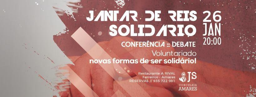AMARES –Juventude Socialista promove Jantar de Reis Solidário