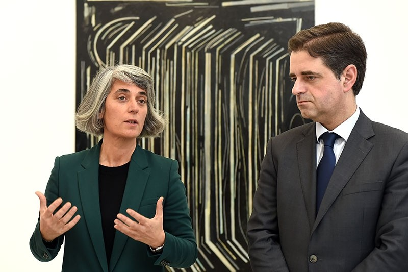 BRAGA –  Ministra da Cultura inaugura no Forum Arte Braga exposição 'Corpo, Abstração e Linguagem na Arte Portuguesa'