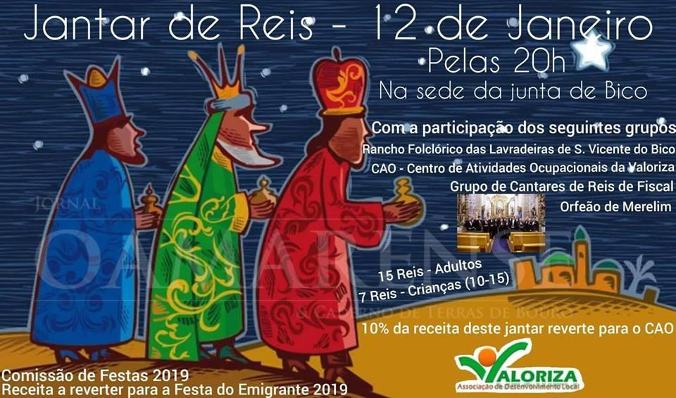 Jantar de Reis solidário em S. Vicente de Bico