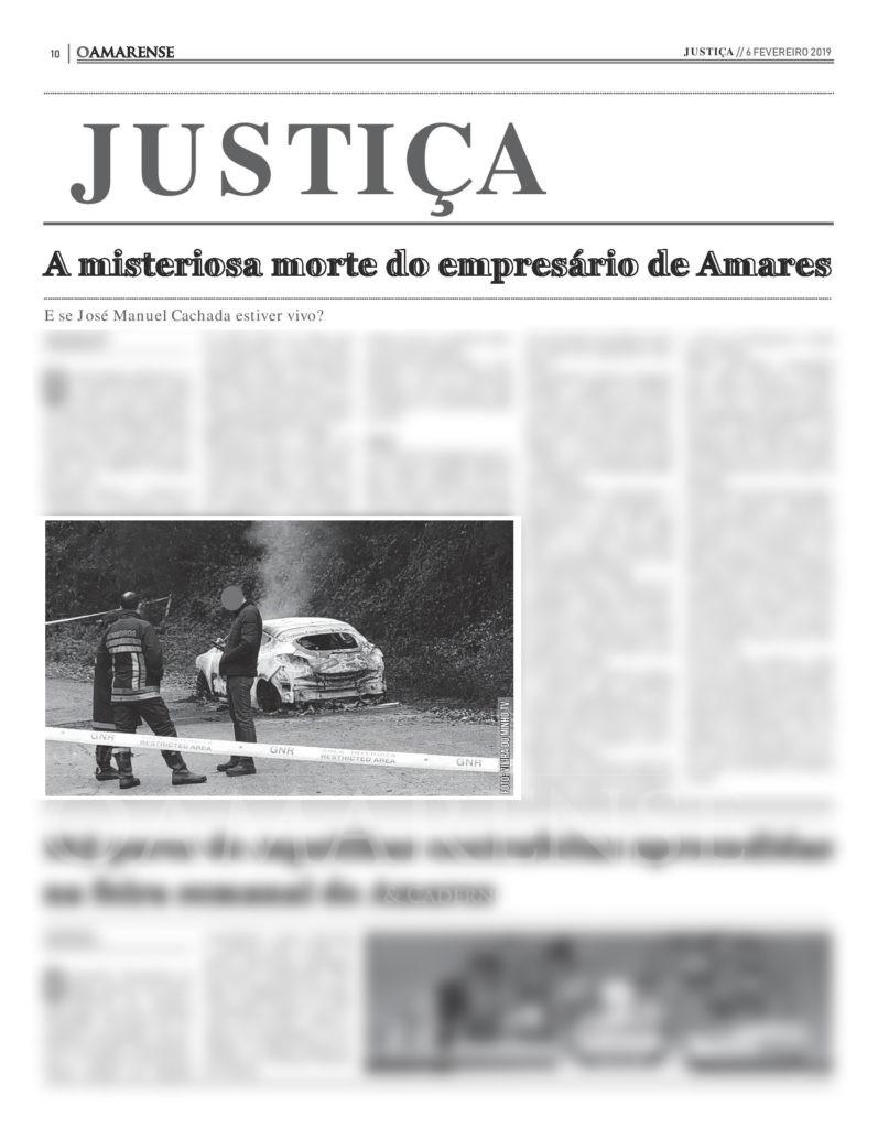 EDIÇÃO IMPRESSA – A misteriosa morte do empresário de Amares – E se José Manuel Cachada estiver vivo?