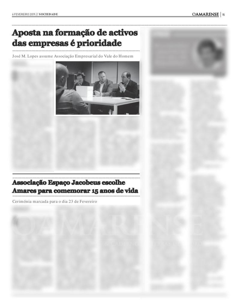 EDIÇÃO IMPRESSA – José Manuel Lopes é o novo Presidente da Associação Empresarial do Vale do Homem