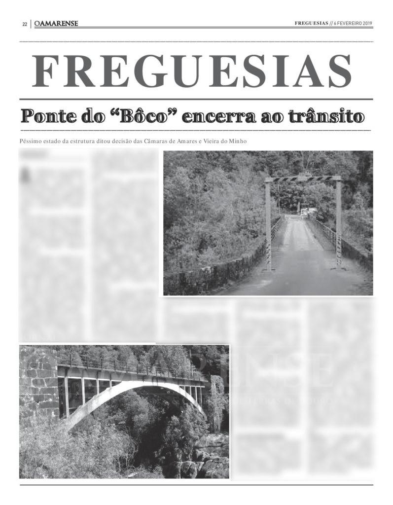 """EDIÇÃO IMPRESSA - Ponte do """"Bôco"""" encerra ao trânsito"""
