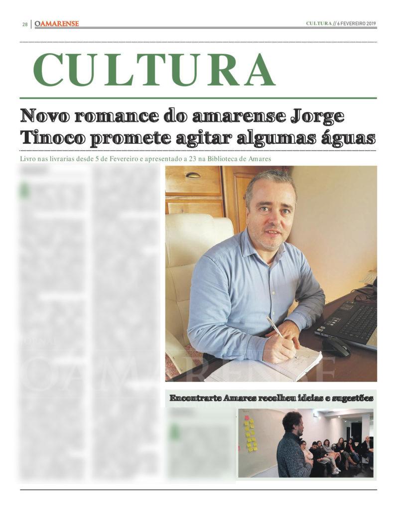 EDIÇÃO IMPRESSA – Novo romance do amarense Jorge Tinoco promete agitar algumas águas