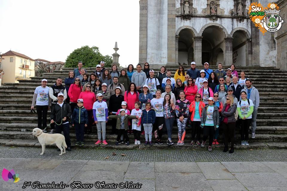 AMARES –  Caminhada percorreu vários locais de Bouro Santa Maria