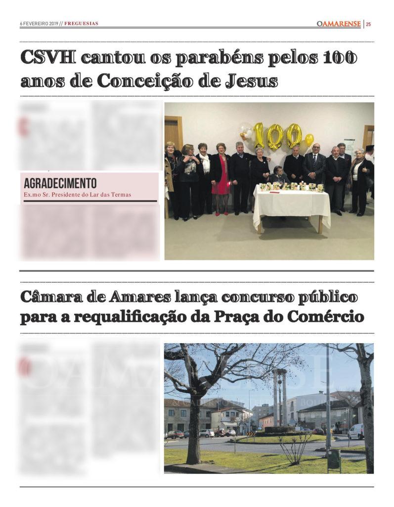 EDIÇÃO IMPRESSA – Câmara de Amares lança concurso público para a requalificação da Praça do Comércio