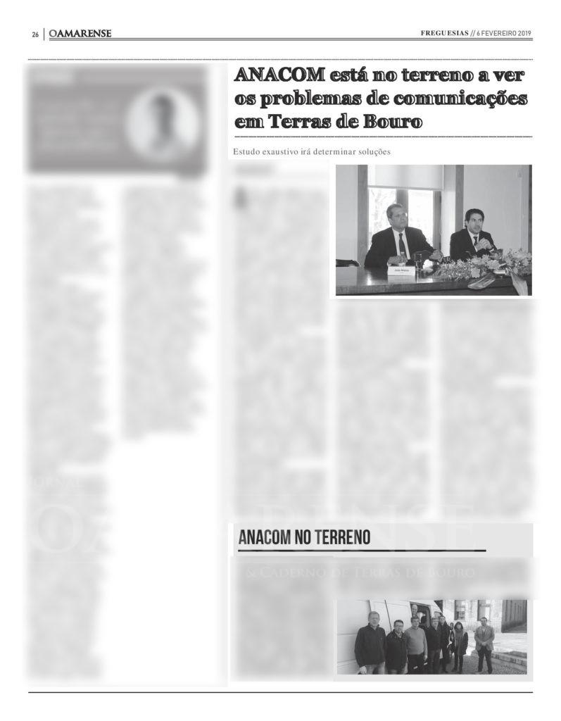 EDIÇÃO IMPRESSA – ANACOM está no terreno a ver os problemas de comunicações em Terras de Bouro