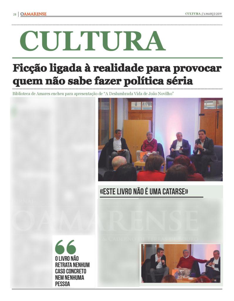 """EDIÇÃO IMPRESSA – Biblioteca de Amares encheu para apresentação de """"A Deslumbrada Vida de João Novilho"""""""